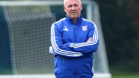 Paul Lambert and his Ipswich Town players returned to training last week. Picture: ROSS HALLS