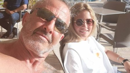Kevin Bahar and his daughter Faith have been on holiday in Tenerife and must quarantine on their ret