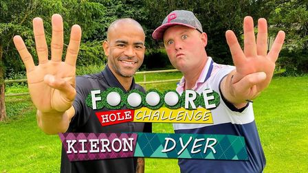 Former Ipswich Town star Kieron Dyer took part in Tubes' Four Hole Challenge. Photo: Tubes Golf Life