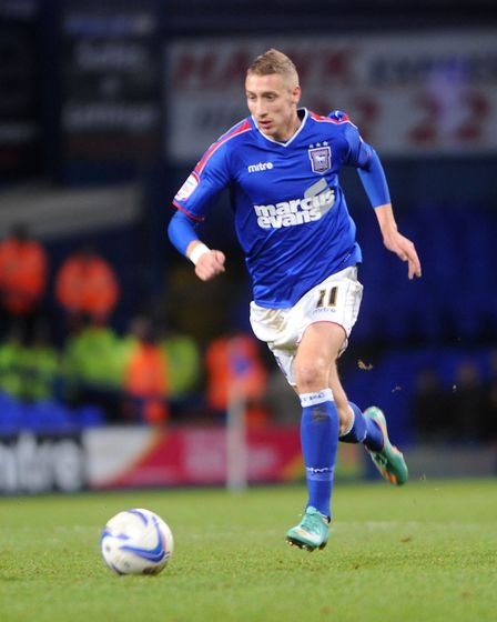 Lee Martin in action for Ipswich Town in 2012 Picture: ARCHANT