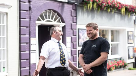 Pat Church and Chris Peters outside the Abbeygate Cinema Picture: SARAH LUCY BROWN