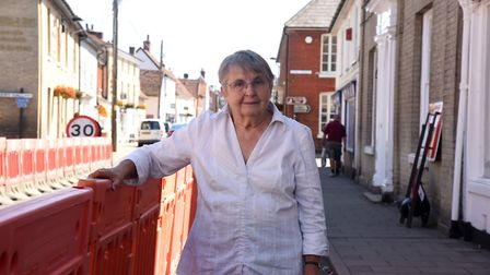 Bookshp owner Jane Haylock is one of the Hadleigh businesses who say the barriers are affecting trad