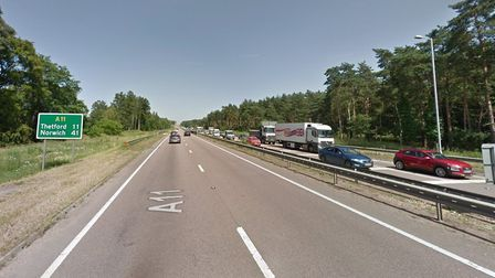 A man was seen lying down on the side of the A11 on July 30, sparking concerns he had died. Paramedi