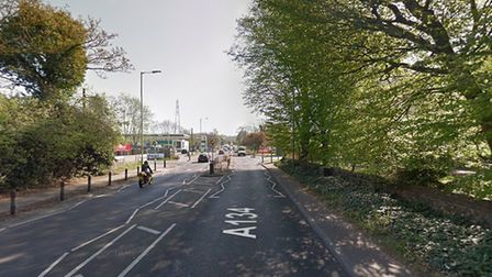 The collision happened on Rougham Road in Bury St Edmunds Picture: GOOGLE MAPS