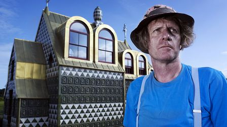 Grayson Perry with his House for Essex in Wrabness, Essex. Picture: Channel 4/PA Wire