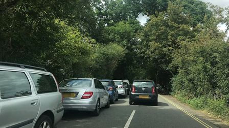 Parking chaos in Dedham, near the River Stour, is causing uproar with residents. Picture: ARCHANT