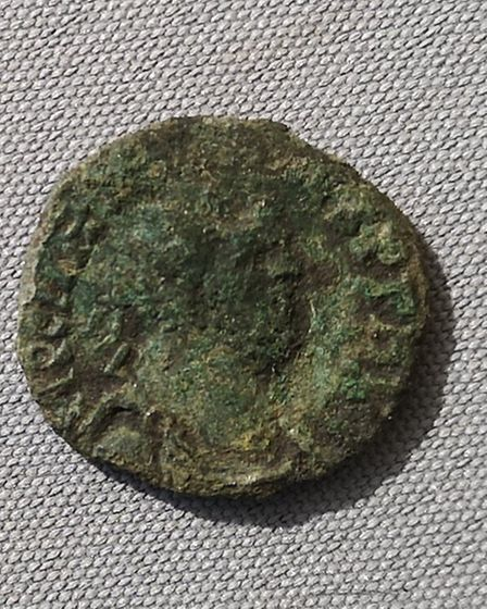 Joe's first Roman coin - Antoninianus of Carausius, who ruled Britannia and Northern Gaul between 28