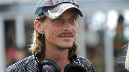Mackenzie Crook on set filming Dectorists in 2016, which was filmed in Suffolk Picture: Phil Morley