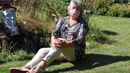 Clare Perkins has been making beautiful hand made face masks for people Picture: CHARLOTTE BOND