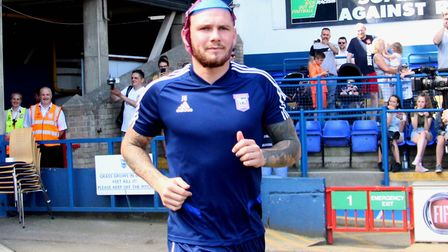 James Norwood having fun at Ipswich Town's Open Day last summer. Picture: ROSS HALLS