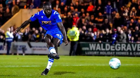Frank Nouble in action for Colchester United Picture: STEVE WALLER
