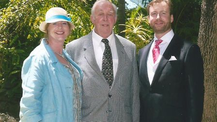 Wedding at the Rock! John Baker celebrates his son Charle�s' wedding, along with daughter Jane, in G