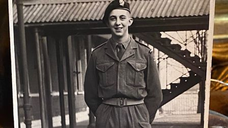6ft 6ins John was a a dedicated military man and a proud member of the Royal Middlesex Regiment Pic