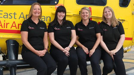 Lisa Boyle, second right, with EAAA colleagues Alison Brett,the service's head of aftercare, Sue Gee