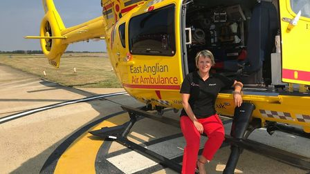 Lisa Boyle works as a nurse in the aftercare team for East Anglia Air Ambulance and volunteered to w