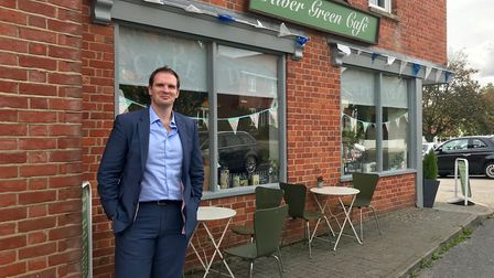 Dr Dan Poulter is urging businesses like the Green River Cafe in Debenham to enter the small shops c