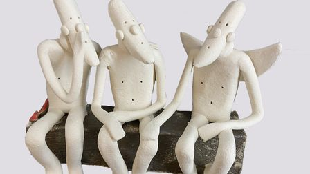 Sally Dunham's sculpture I'm Listening. Sally will be taking part in the Suffolk Craft Society's Pop