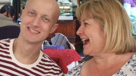 Nikki Bowdidge with her son Tom, who died in 2013 after battling a rare form of cancer Picture: TOM