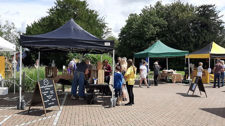 July's Lavenham Farmers Market, which took place outside Picture: Suffolk Market Events