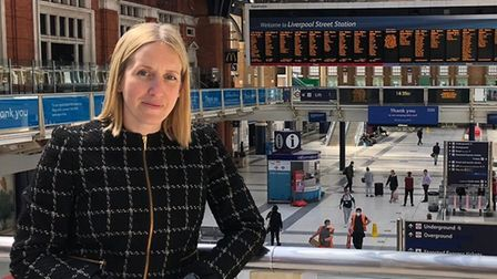 Network Rail's Anglia route director Ellie Burrows at Liverpool Street Station. Picture: NETWORK RAI