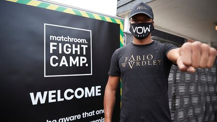 Ipswich heavyweight Fabio Wardley arriving at Matchroom Fight Camp. He fights Simon Vallily for the