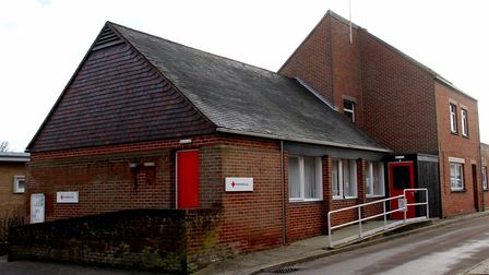 The British Red Cross centre in Theatre Street, Woodbridge which could become an antiques shop Pictu