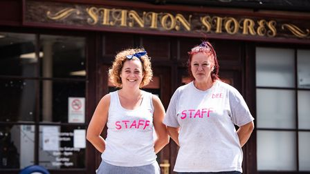 Amanda Cooper,left, and Dee Burdett organised a GoFund me campaign to raise money for a wheeled harn
