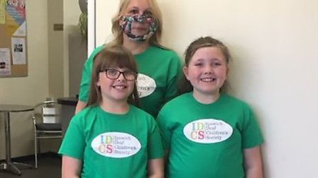 Teresa Hall's daughter Georgia (left) is deaf and she and her friend Ruby both struggle to understan