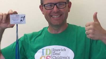 Richard Platt is the chairman of the Ipswich Deaf Children's Society and has three deaf children, as