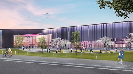A CGI of the Western Way development in Bury St Edmunds, to bring community, public sector and comme