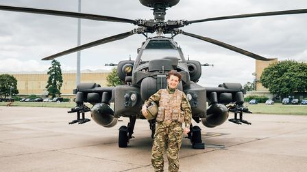 Jo Churchill, Bury St Edmunds MP, flew an Apache helicopter across her constituency this week as par