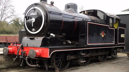 The N7 outside the Restoration Shed at the East Anglian Railway Museum. The museu has reopened follo