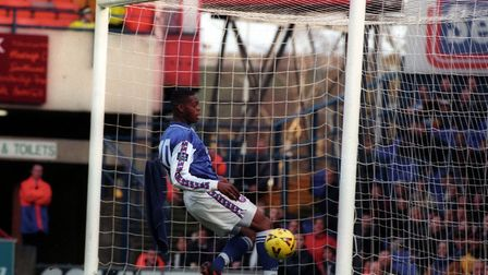 Marlon Harewood's shocking miss against Oxford in 1999. Picture: ARCHANT