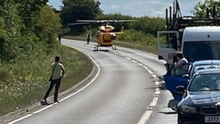Emergency services were called to the scene of a fatal road accident on the A120 at the Coggeshall b