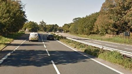 Police have closed the A14 between Rougham and Beyton due to an incident Picture: GOOGLE MAPS