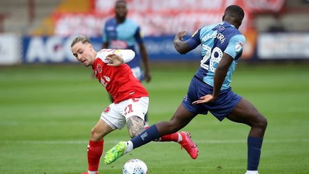Barrie McKay (left) appears to be out of the picture at Swansea. He's recently been on loan at Fleet