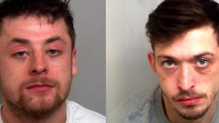 Darryl Rolfe (left) and Rhys Welham were jailed for the attack at Chelmsford Crown Court Picture: ES