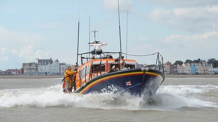 The RNLI out at sea in Aldeburgh Picture: SARAH LUCY BROWN