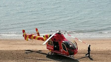 A man in his 60s died after an incident in the waters off the coast of Clacton-on-Sea. Picture: RYAN