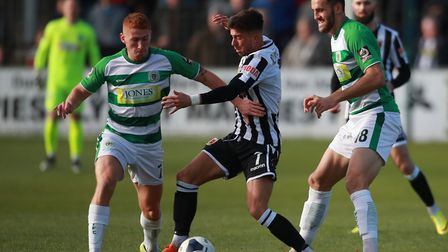 Rochdale have signed exciting non-league star Alex Newby (centre) from Chorley. Photo: PA