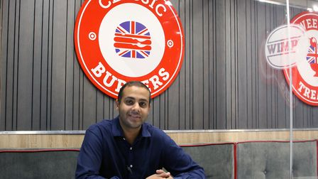 Raj Bhangal, franchisee of Wimpy Colchester and Wimpy Kings Lynn Picture: CRAIG DEWAR
