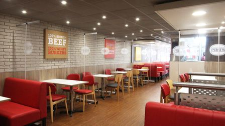 The new-look Wimpy Colchester includesnew chairs, tables, lighting and signage PIcture: CRAIG DEWAR