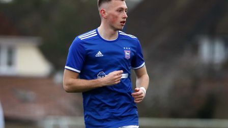Ben Morris pictured during Town U23s 2-1 win over Crystal Palace at Playford Road Photo: ROSS HALLS