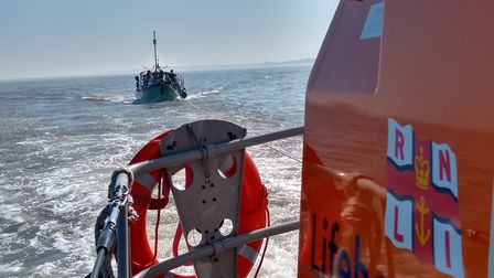 The crew were called out north of Aldeburgh to help a motor boat Picture: RNLI/VICTORIA COZENS