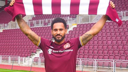 Former Ipswich Town forward Jordan Roberts has signed for Hearts. Picture; HEARTS/TWITTER