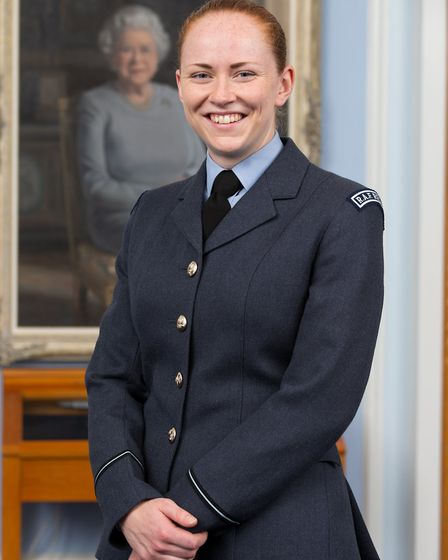 Flying Officer Emma Graves, one the two first female officers with the RAF Regiment. Picture: CPL DA