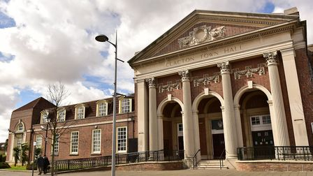 Clacton Town Hall will be lit up to celebrate the town's online LGBTQ Pride festival Picture: SARAH