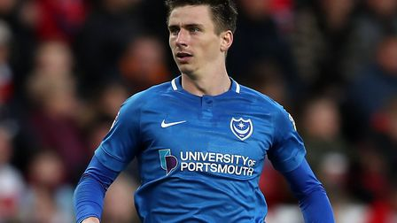 Ipswich Town are close to a deal for former Portsmouth striker Oli Hawkins. Picture; PA