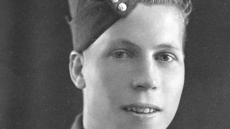 Centenarian Cyril Doy in uniform during the Second World War. Picture: The Doy family