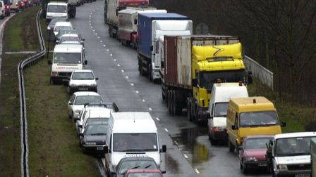 Part of the A12 is closed following a late monring crash near Colchester. Stock image Picture: DAVE